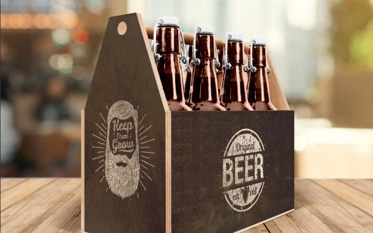 Craft Beer Box Product Mockup