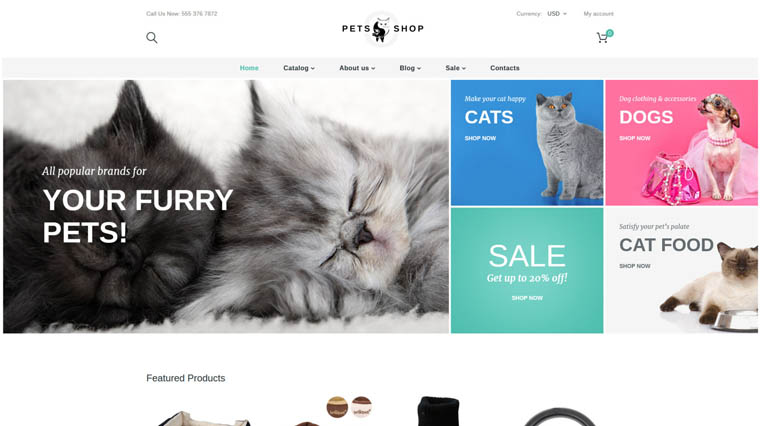 Cat Store Shopify Theme