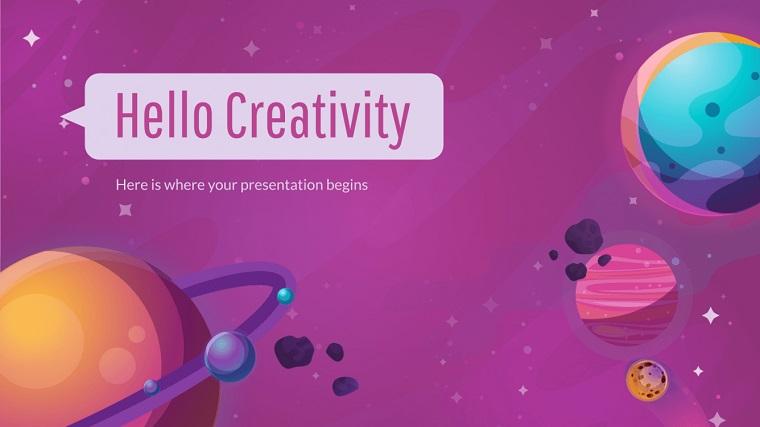 Colorful Galaxy Presentation.