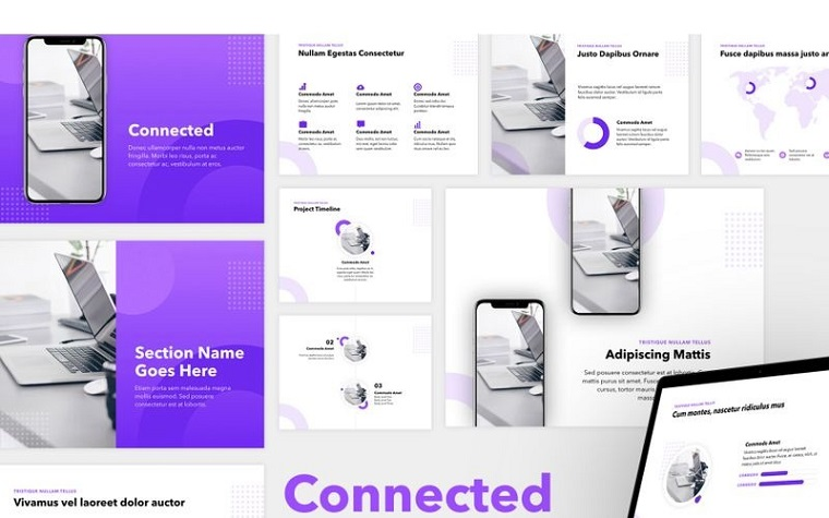 Connected PowerPoint Template
