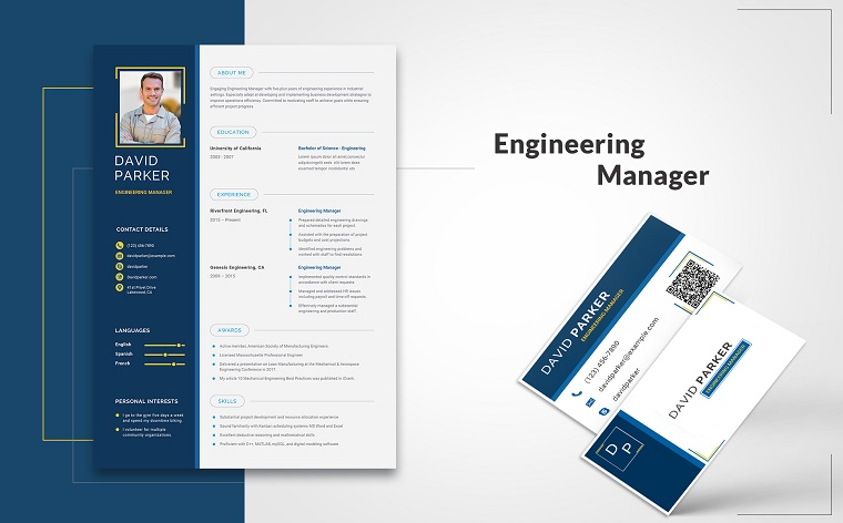 David Parker - Engineering Manager Resume Template.