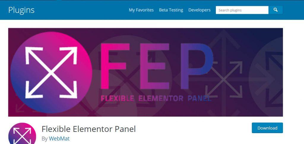 Flexible Elementor Panel.
