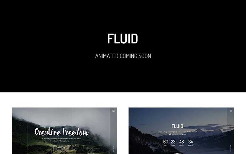 fluid-animated-coming-soon-template