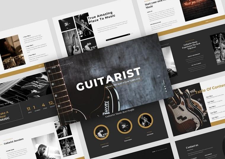 Guitarist - Music PowerPoint Template.