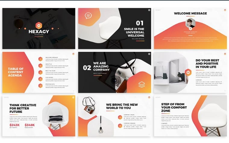 Hexagy - Hexagon Style PowerPoint Template