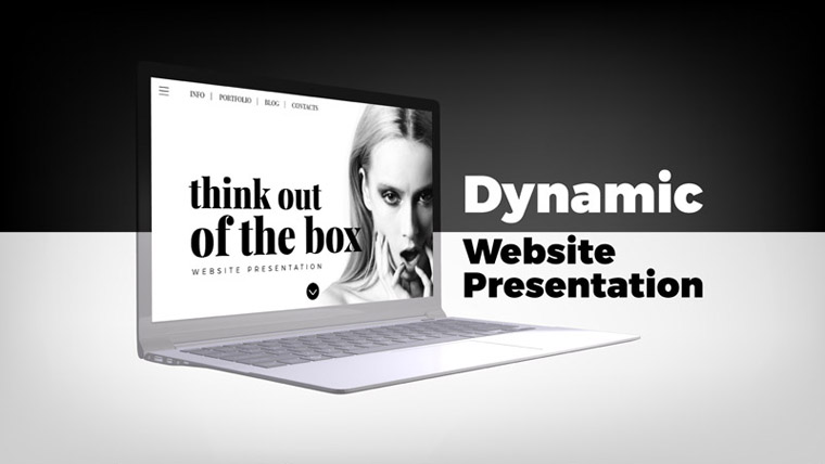 Dynamic Website Presentation After Effects Intro.