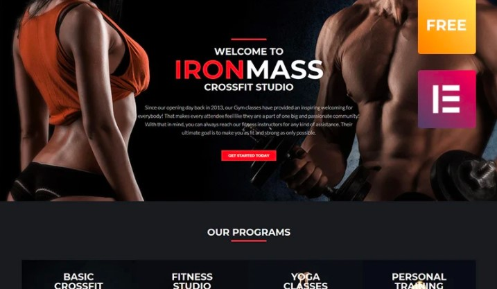 IronMass lite - Gym Fitness & Bodybuilding WordPress Theme