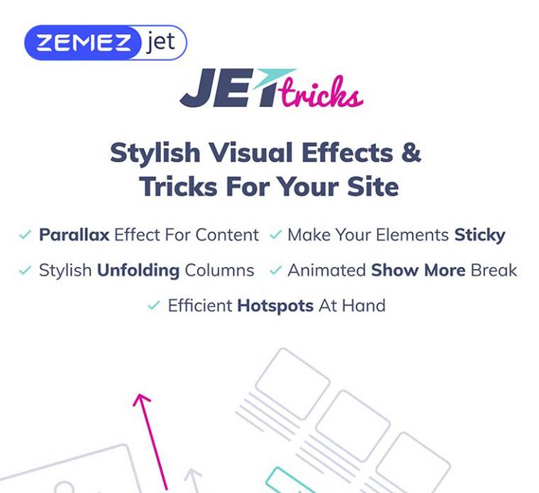 JetTricks - Visual Effects Addon for Elementor WordPress Plugin.