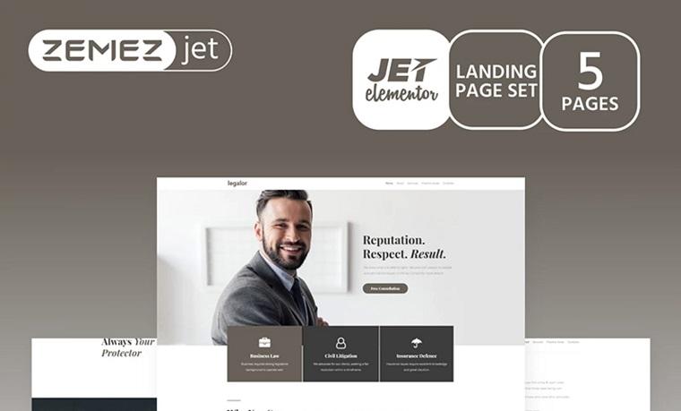 Justicon - Lawyer Elementor Jet Elementor Template