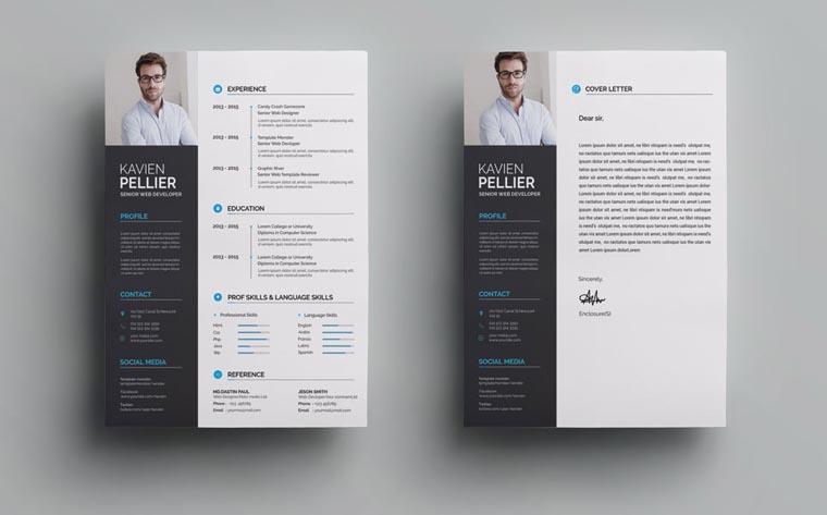 Clean and Creative Web Developer Resume Template