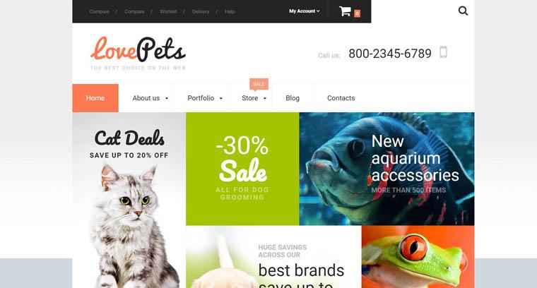 Love Pets WooCommerce Theme