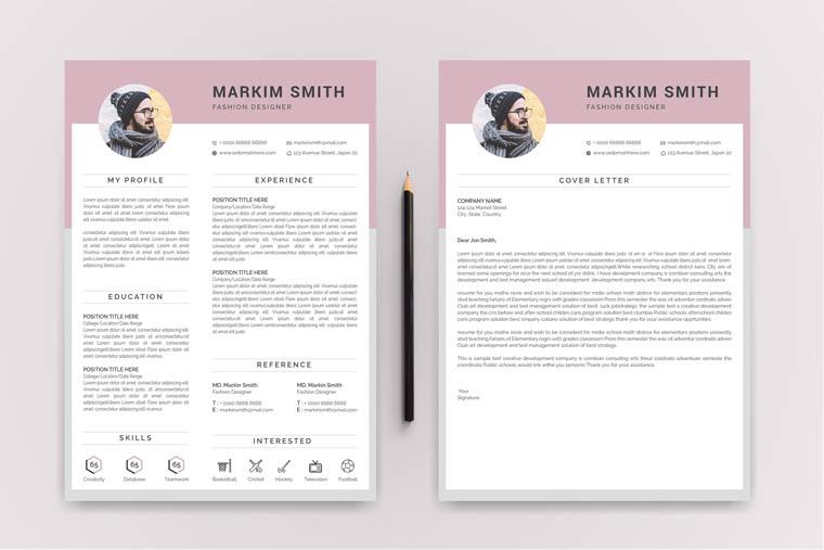 Markim Smith Modern Resume Template