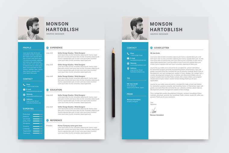 Monson Hartoblish Modern Resume Template
