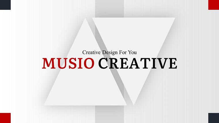 Musio Creative PowerPoint Template.