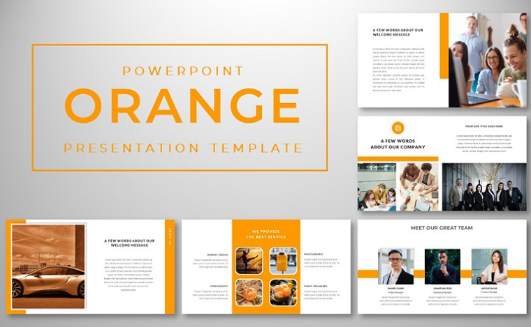 Orange PowerPoint Template