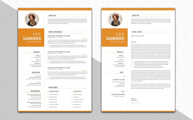 Professional CV Resume Template.