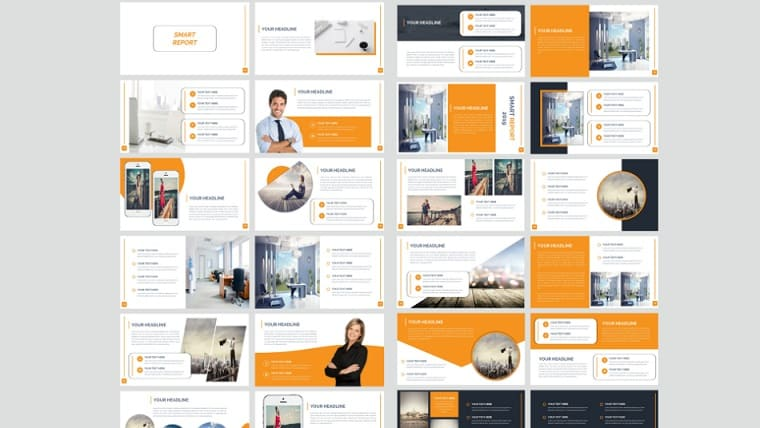 Smart Report PowerPoint Template