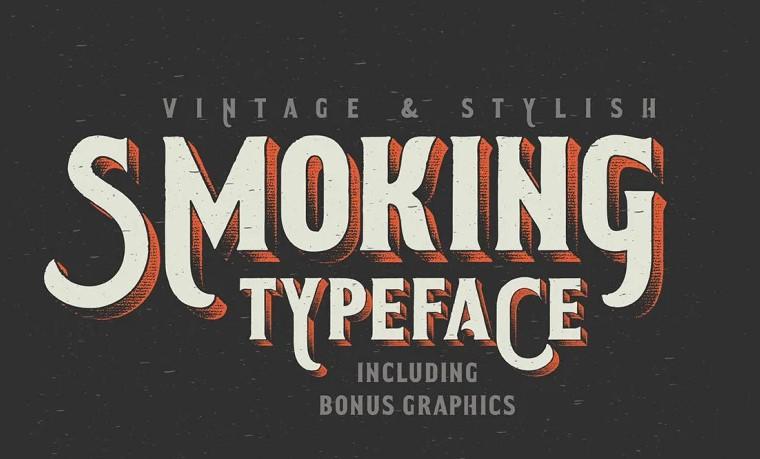 smoking typeface