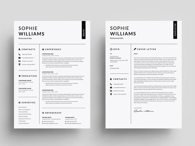 Sophie Williams - Cashier Resume Template