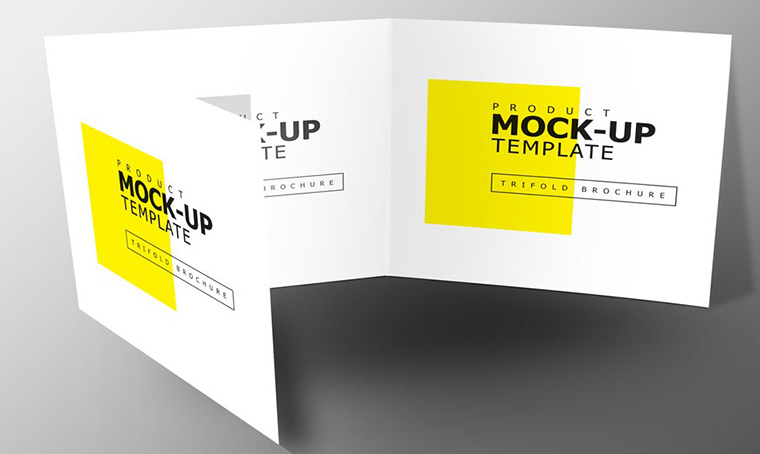 Square Trifold product mockup