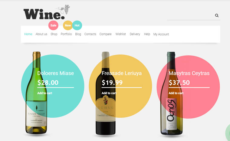 Wine Store WooCommerce Theme