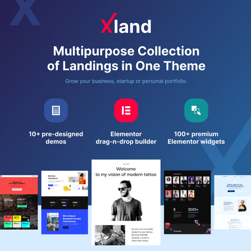 #2 XLand - Multipurpose Collection of Landing Pages WordPress Theme