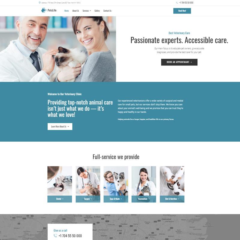 #5 PetsLife - Responsive Veterinarian WordPress Theme