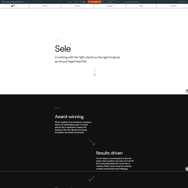 #6 PR Agency - PR Agency Elementor-based WordPress Theme