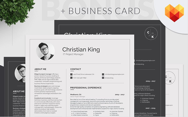 Christian King - business analyst Resume Template