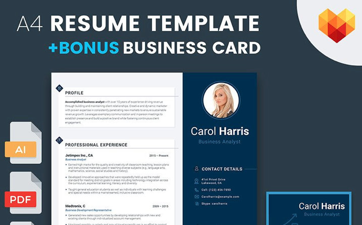 Carol Harris - Business Analyst and Financial Consultant Resume Template