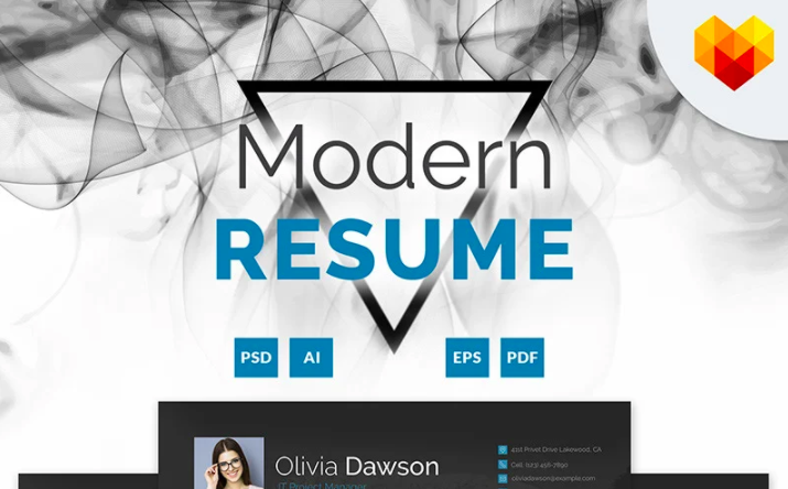 Olivia Dawson - Project Manager Resume Template