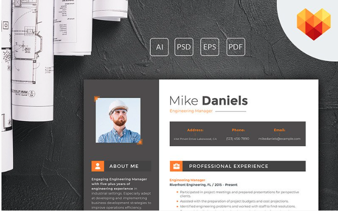 Mike Daniels - Engineering Manager Resume Template