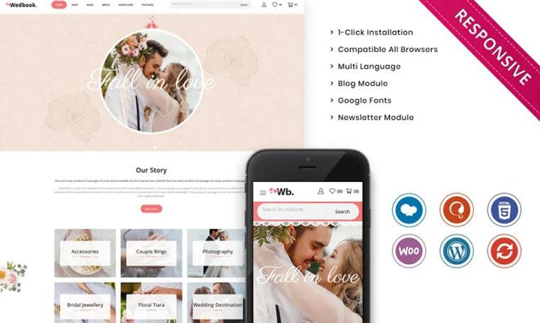 Wedbok Minimalist WordPress eCommerce template