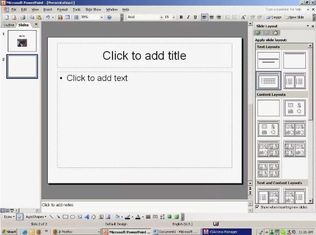 Adding more slides.