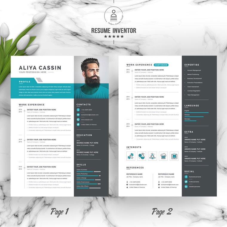 Aliya Office Manager Resume Template