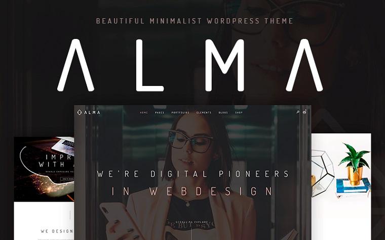 Alma - Minimalist WordPress Theme.