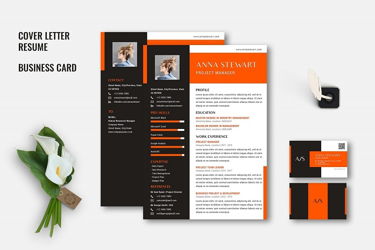 Athena - Creative CV Set Resume Template