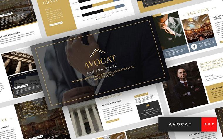 Avocat - Lawyer Presentation PowerPoint Template