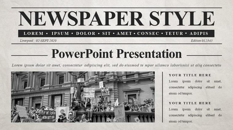Best Newspaper PowerPoint Template