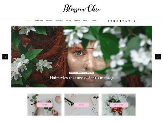 Blossom Chic Girly WordPress Theme