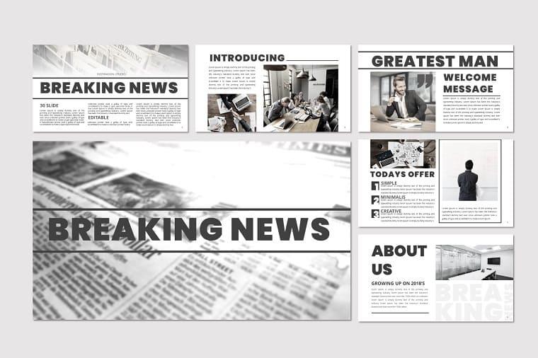 Breaking News - PowerPoint Template