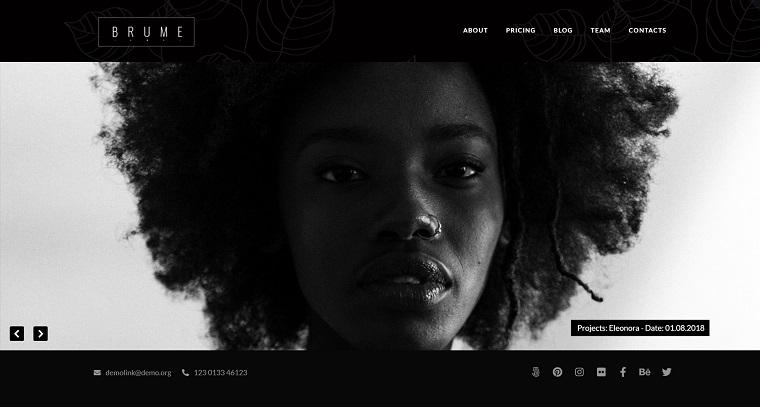 Brume - Photo Portfolio with Elementor Builder WordPress Theme.