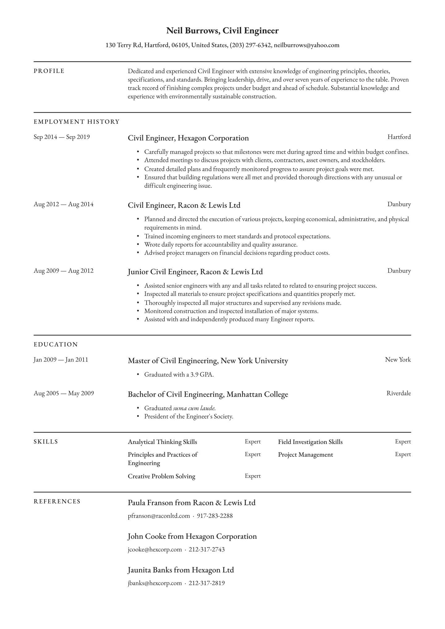Top 25 Free Paid Engineering Resume Templates 2020