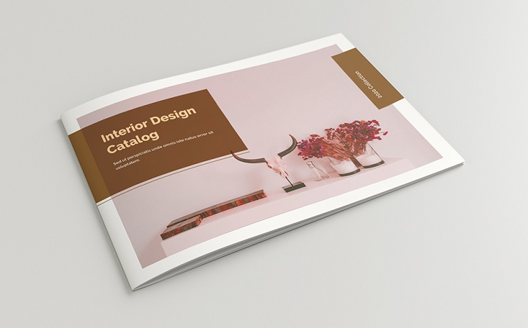 Catalog Layout with Brown Accents, 24 Pages Corporate Identity Template.