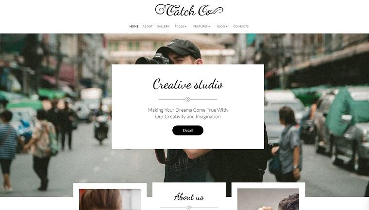 Catch Co - Photo Studio Multipurpose Creative Elementor WordPress Theme.