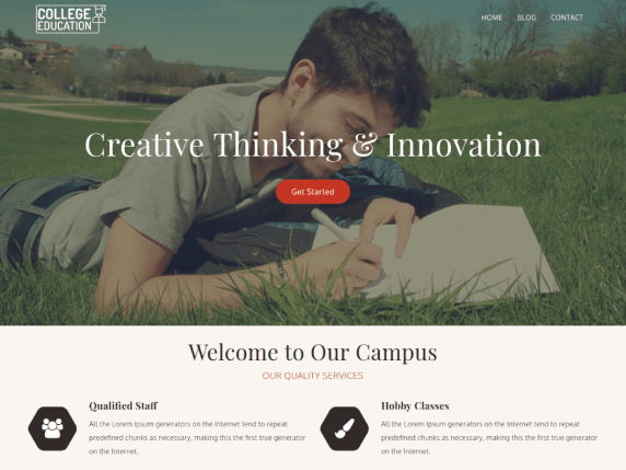 College Education Free WordPress Theme.