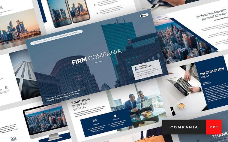 Compania - Firm Presentation PowerPoint Template