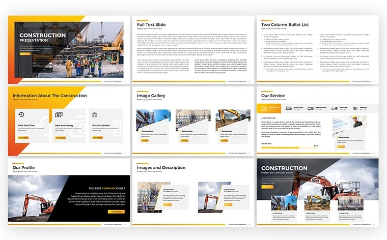 Construction - PowerPoint Template.
