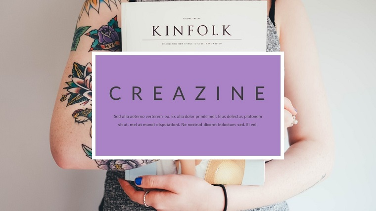 Creazine - Creative Magazine PowerPoint Template