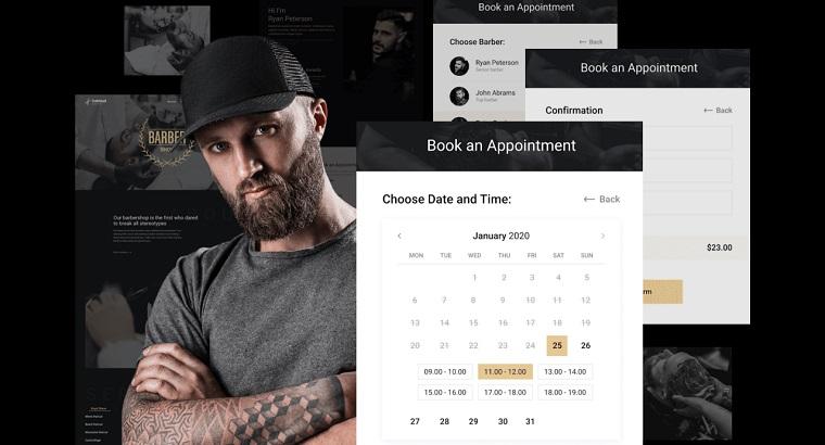 CutCloud – Barbershop Website Template for Elementor.